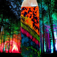 Electric Festival Tie Dyed Maxi Skirt  (Pattern Four)