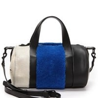Opening Ceremony Syd Small Satchel with Haircalf & Lamb Fur