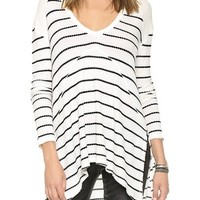 Free People Striped Sunset Thermal Top