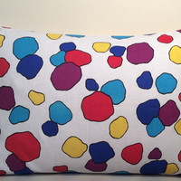 """2 Pillow Covers 100% Cotton, Multi-colored - READY TO SHIP - 12"""" x 20"""""""
