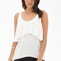 Flounce Open-Back Top