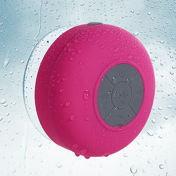MYBAT Bluetooth 3.0 Mobile Wireless Suction Cup Speaker - Hot Pink