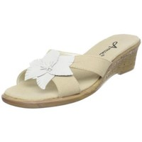 Annie Shoes Women`s Lavish Sandal,Natural Linen,11 W US