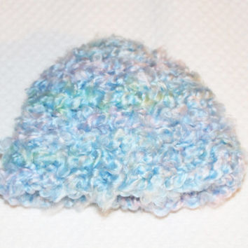 Light Blue Baby Hat - 3 to 6 Months