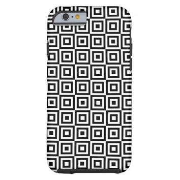 SQUARE PATTERN (BLACK AND WHITE) iPhone 6 Case