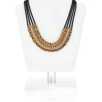 Multi Chain And Cord Collar Necklace | Navy | Accessorize