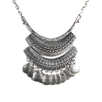 TRIBAL PLATE DANGLE NECKLACE