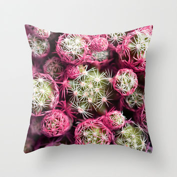 Cactus Galacticus Throw Pillow by Lisa Argyropoulos   Society6