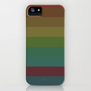 Autumn stripes iPhone & iPod Case by Laura Santeler