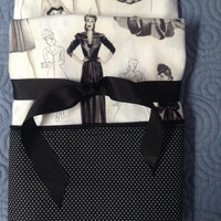 Set of Hollywood Siver Screen Glamour Bette Davis Style Pillowcases