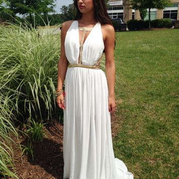 Alpha Greek Maxi Dress
