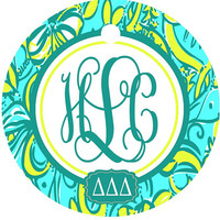 Lilly Sorority Monogrammed Key Chains. Sorority Initiation or Bid Day Present! Big Little Gift! Diaper bag tags. Girls weekend gifts!