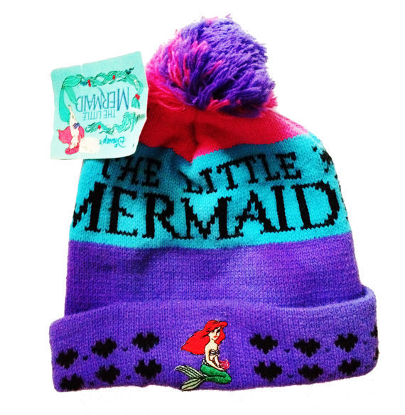 Little Mermaid Pompom Beanie Vintage 90's