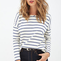 Striped Drop-Sleeve Top