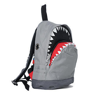 YESSTYLE: Morn Creations- Shark Backpack (M) (Gray - M Size) - Free International Shipping on orders over $150