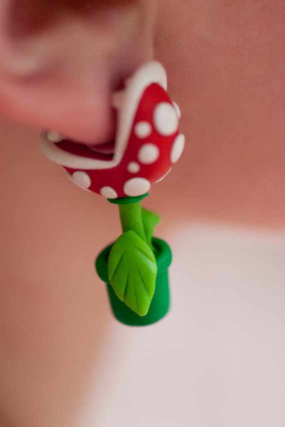 The original YOUCH Piranha Plant Earrings