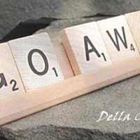 Scrabble Desk Sign - GO AWAY on Luulla