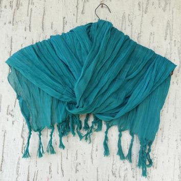 Emerald Green Scarves, Handwoven infinity scarf,  Natural,Organic Scarf, Fashion accessories, Women Scarves