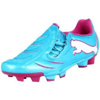Puma Women`s Powercat 3.10 FG Soccer Cleat,Blue Atoll/White/Fuschia,9 B US