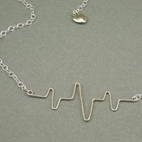 You Make my Heart Beat sterling necklace
