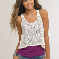 Lace Hi/Lo Tank