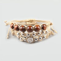 FULL TILT 3 Piece Beaded Wood Bracelet 198010423 | Jewelry | Tillys.com