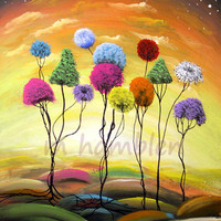 lollipop tree landscape print - Mattsart