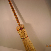 New England Style (wicked good)Round HEARTH (Fireplace) Handmade BROOM Or BESOM