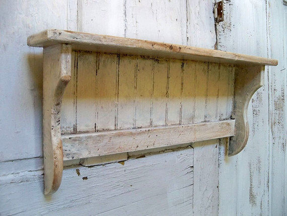 Handmade White Distressed Recycled Wood From