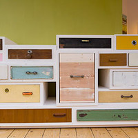 11 Treasure Chests: Old Wood Drawers Set in New Dressers | Designs & Ideas on Dornob