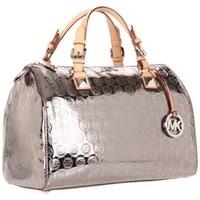 MICHAEL Michael Kors MONOGRAM Satchel,Nickel,One Size
