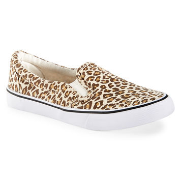Aeropostale Womens Printed Slip-On Deck Shoes
