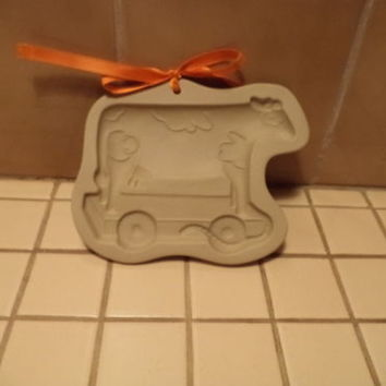 Brown Bag Cookie Mold TOY COW COOKIE MOLD-1994-NEW with RIBBON