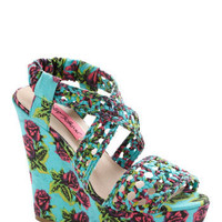 Betsey Johnson All Braid Up Wedge | Mod Retro Vintage Wedges | ModCloth.com