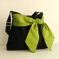 Black Cotton Twill Bag - Ninny
