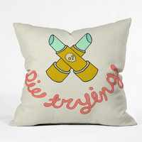 DENY Designs Home Accessories | Wesley Bird Die Trying Throw Pillow