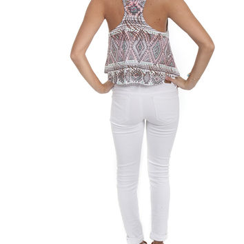 Viola Top Cut Out Aztec – Famous Style by Stalhi Boutique