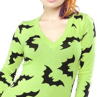 Batty Sweater in Green | Blame Betty