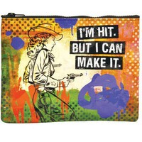 I&#x27;m Hit But I Can Make It Zipper Pouch - 95% Recycled Post Consumer Material  - Whimsical &amp; Unique Gift Ideas for the Coolest Gift Givers