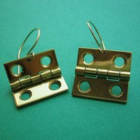 Square Unhinged Earrings Handmade by Metal Sugar - Whimsical &amp; Unique Gift Ideas for the Coolest Gift Givers