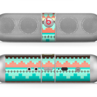 The Teal & Gold Tribal Ethic Geometric Pattern Skin for the Beats by Dre Pill Bluetooth Speaker - Default Title