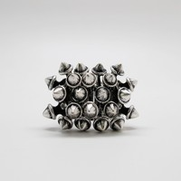 Spikes Ring (Silver Toned)
