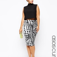 ASOS Curve | ASOS CURVE Exclusive Pencil Skirt In Mono at ASOS