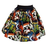 "Women's ""Hollywood Monsters"" Skirt by Hemet"