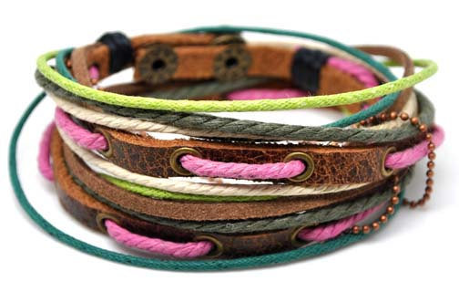 Jewelry Bangle bracelet women Leather Bracelet Girl Ropes Bracelet Men Leather Bracelet  A1