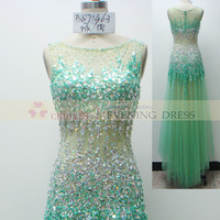 online shop BQ71463 mint luxury crystal beaded prom dress Wedding Dress 2015, View prom dress 2015, CHOIYES Prom dress Product Details from Chaozhou Choiyes Evening Dress Co., Ltd. on Alibaba.com