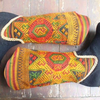Vegan Womens Cowboy Boots In Picturesque Ethnic Laos Embroidery 9