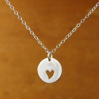 LOVE Tag Necklace in Sterling Silver