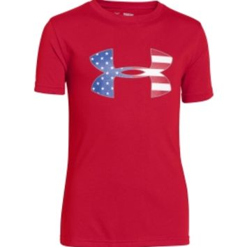 Under Armour Youth Big Flag Logo T-Shirt - Dick's Sporting Goods