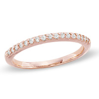 1/7 CT. T.W. Diamond Band in 14K Rose Gold